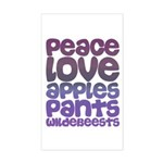 Apples and Pants Rectangle Sticker