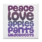 Apples and Pants Tile Coaster