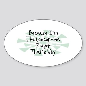 Because Concertina Player Oval Sticker