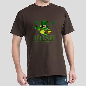 IRISH DOWN TO MY TOES Dark T-Shirt