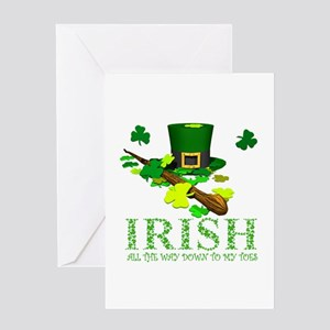 IRISH DOWN TO MY TOES Greeting Card