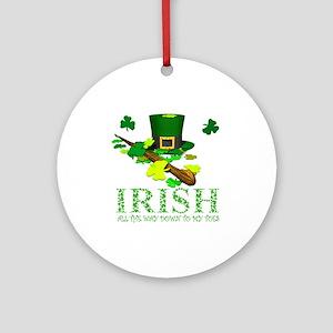 IRISH DOWN TO MY TOES Ornament (Round)