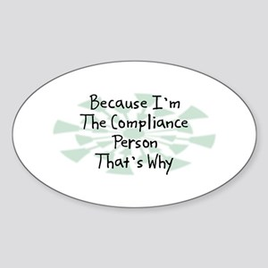 Because Compliance Person Oval Sticker