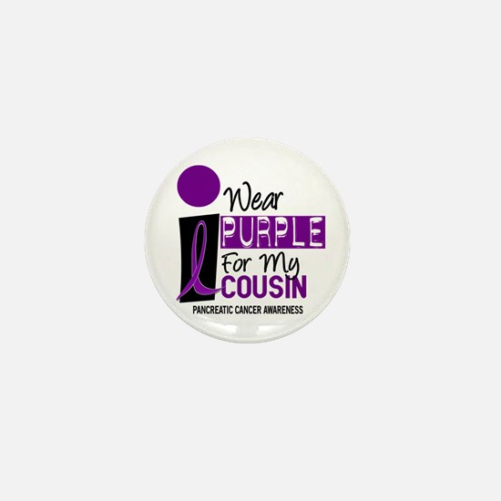 I Wear Purple For My Cousin 9 PC Mini Button