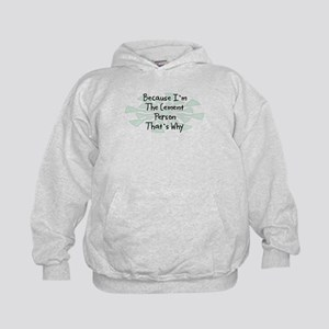 Because Cement Person Kids Hoodie