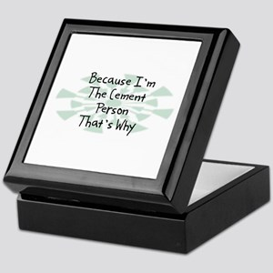 Because Cement Person Keepsake Box
