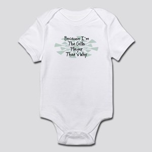 Because Cello Player Infant Bodysuit