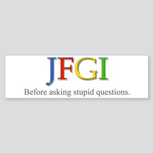 JFGI Bumper Sticker