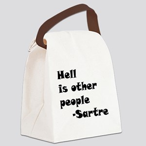 HellIsOtherPeople Canvas Lunch Bag