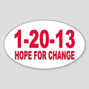 Obama's last day 01.20.13 Oval Sticker