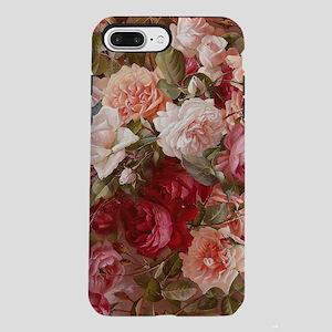 Floral Pink Roses iPhone 7 Plus Tough Case