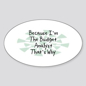 Because Budget Analyst Oval Sticker