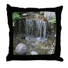 Pond Waterfall Throw Pillow