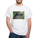 Pond Waterfall White T-Shirt