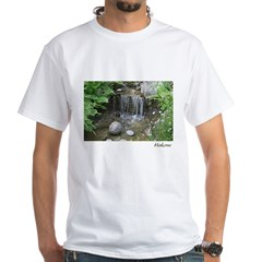 Pond Waterfall White T-Shirt