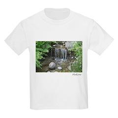 Pond Waterfall Kids T-Shirt
