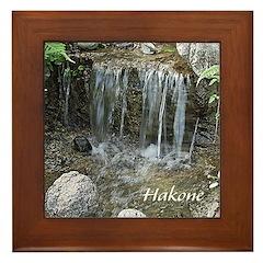 Pond Waterfall Framed Tile