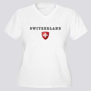 Switzerland Crest Women's Plus Size V-Neck T-Shirt