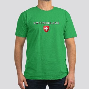 Switzerland Crest Men's Fitted T-Shirt (dark)