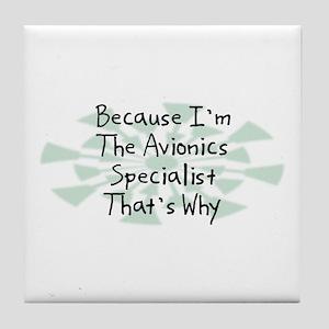 Because Avionics Specialist Tile Coaster