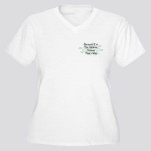 Because Athletic Trainer Women's Plus Size V-Neck