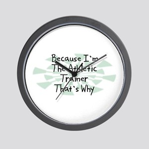 Because Athletic Trainer Wall Clock