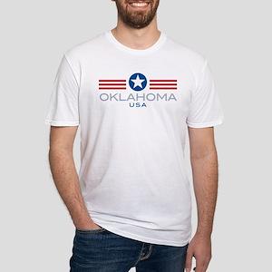Oklahoma-Star Stripes: Ash Grey T-Shirt