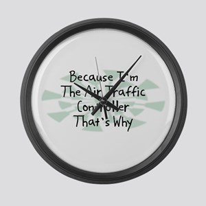 Because Air Traffic Controller Large Wall Clock