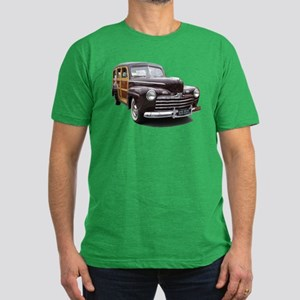 Helaine's Ford Woody Men's Fitted T-Shirt (dark)