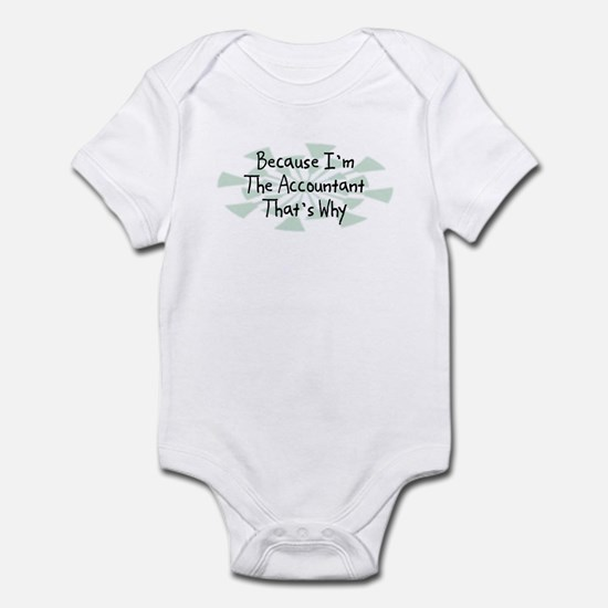 Because Accountant Infant Bodysuit