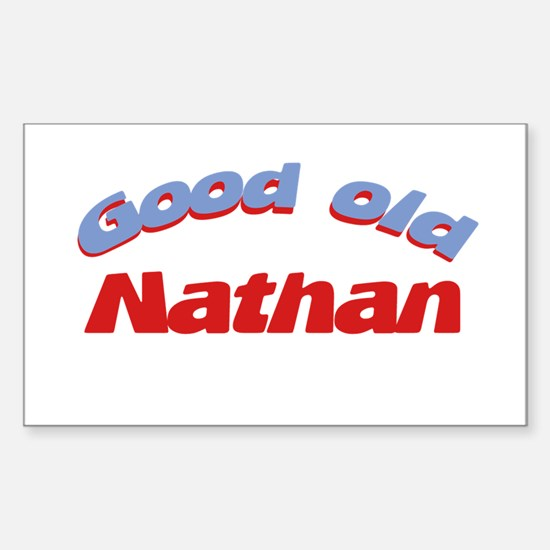 Good Old Nathan Rectangle Decal
