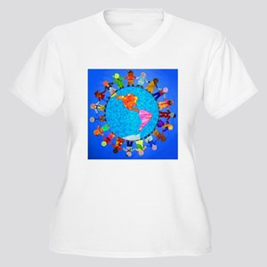 Peaceful Children around the World Women's Plus Si