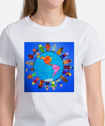Peaceful Children around the World Women's T-Shirt