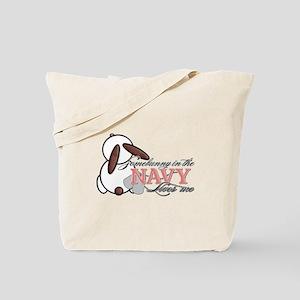 Somebunny in the Navy Loves M Tote Bag