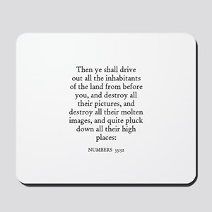 NUMBERS  33:52 Mousepad