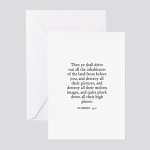 NUMBERS  33:52 Greeting Cards (Pk of 10)