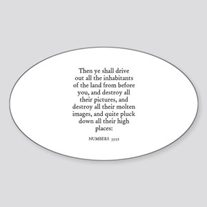NUMBERS 33:52 Oval Sticker