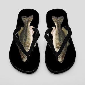 Funny Bass Fish Flip Flops