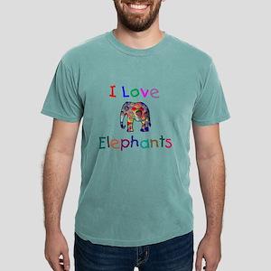 I Love Elephants Mens Comfort Colors® Shirt