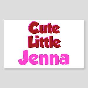 Cute Little Jenna Rectangle Sticker