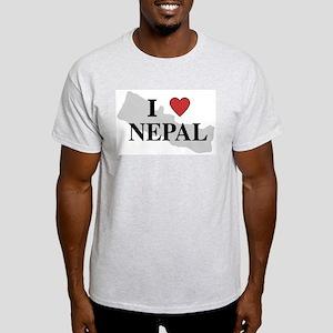 I Love Nepal Ash Grey T-Shirt