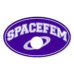Purple Spacefem Oval Sticker