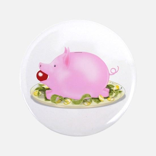 "Suckling Piggy Bank 3.5"" Button"