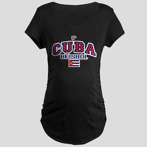 CU Cuba Baseball Beisbol Maternity Dark T-Shirt