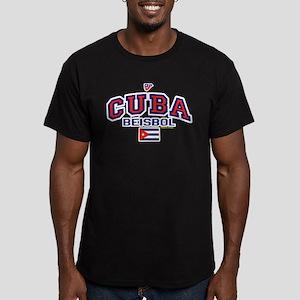 CU Cuba Baseball Beisbol Men's Fitted T-Shirt (dar