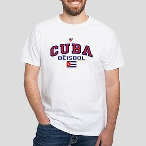 CU Cuba Baseball Beisbol White T-Shirt
