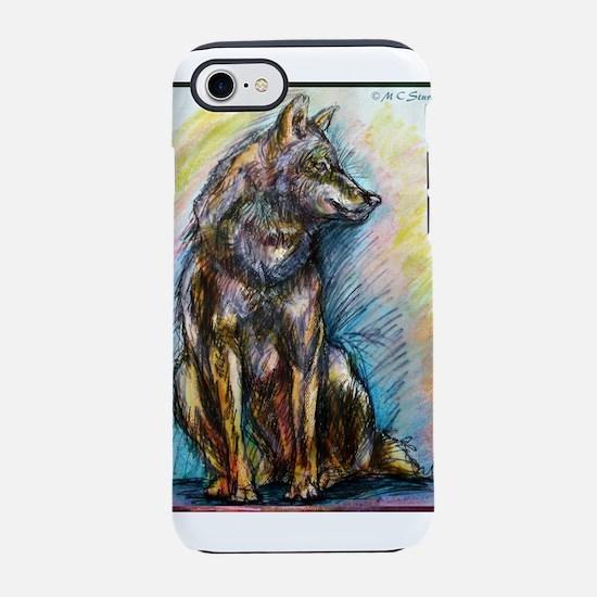 Wolf! Wldlife art! iPhone 7 Tough Case