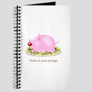 Feast on Your Savings Piggy Bank Journal
