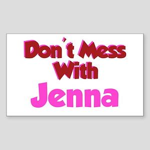 Don't Mess Jenna Rectangle Sticker