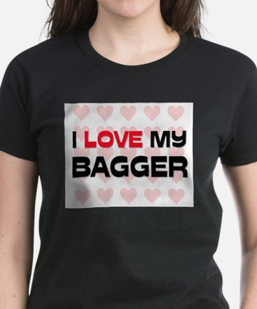 I Love My Bagger Women's Dark T-Shirt